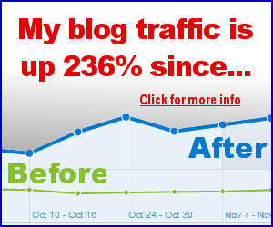 My blog traffic us up 236% since...